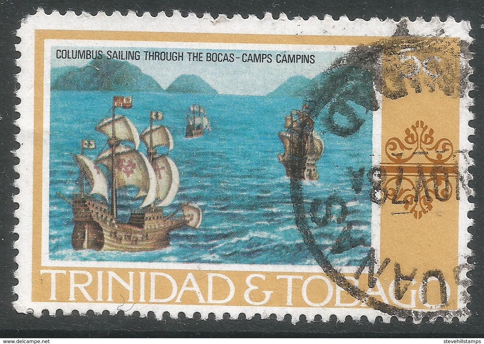 Trinidad & Tobago. 1976 Paintings, Hotels And Orchids. 5c Used. SG 479 - Trinidad & Tobago (1962-...)