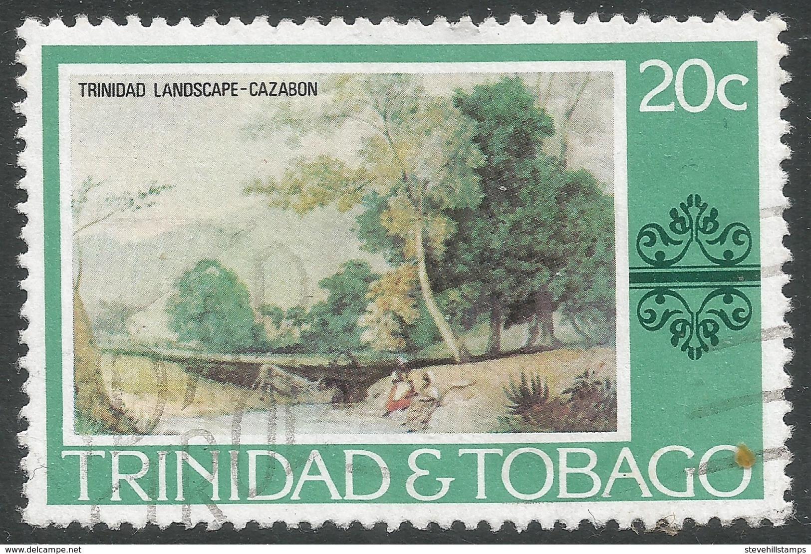 Trinidad & Tobago. 1976 Paintings, Hotels And Orchids. 20c Used. SG 485 - Trinidad & Tobago (1962-...)