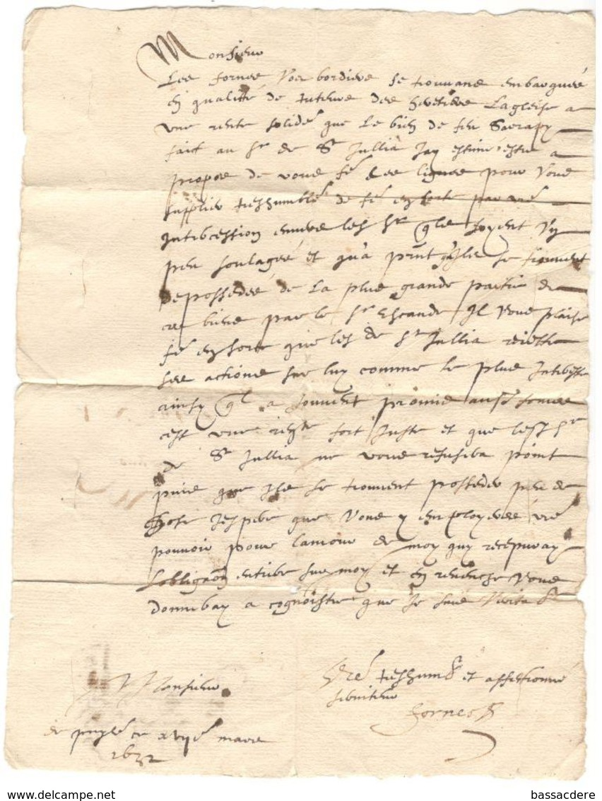 8076 - Pour LAUTREC 1632 - Marcophilie (Lettres)