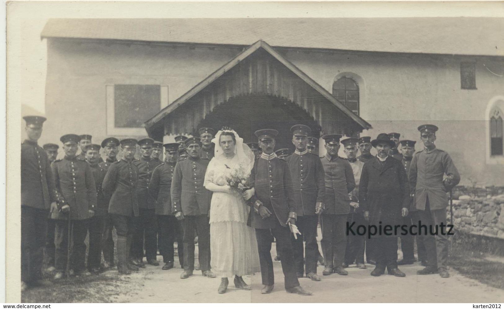 AK Churwalden, Interniertentrauung 1918 - Schweiz