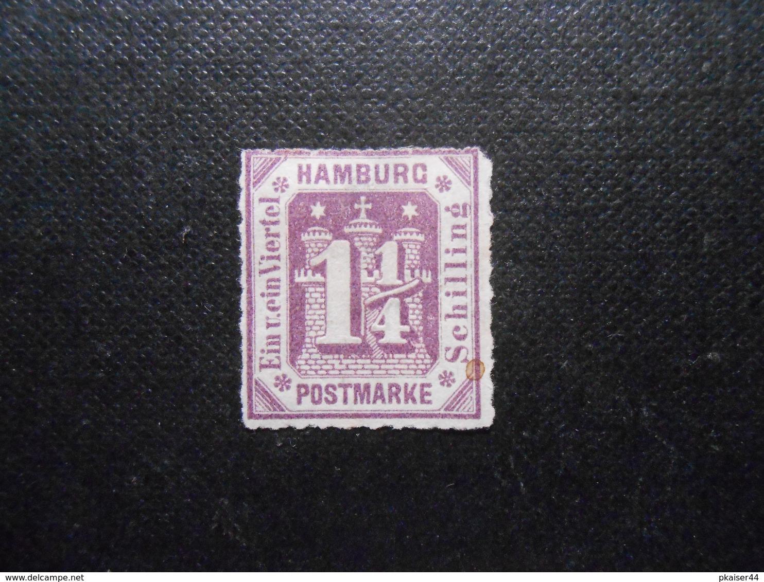 Mi 20a   1 1/4S(*)UNG  Altdeutschland - Hamburg - 1866 - Mi 25,00 € - RS Papier Dünn - Hamburg