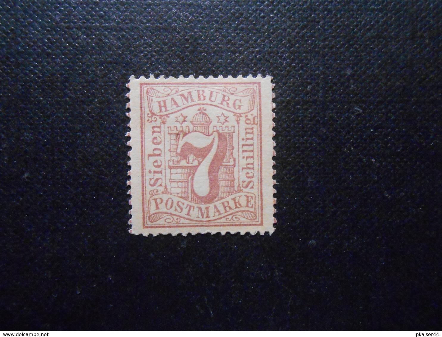 Mi 19  7S*MLH  Altdeutschland - Hamburg - 1865 - Mi 15,00 € - Hamburg