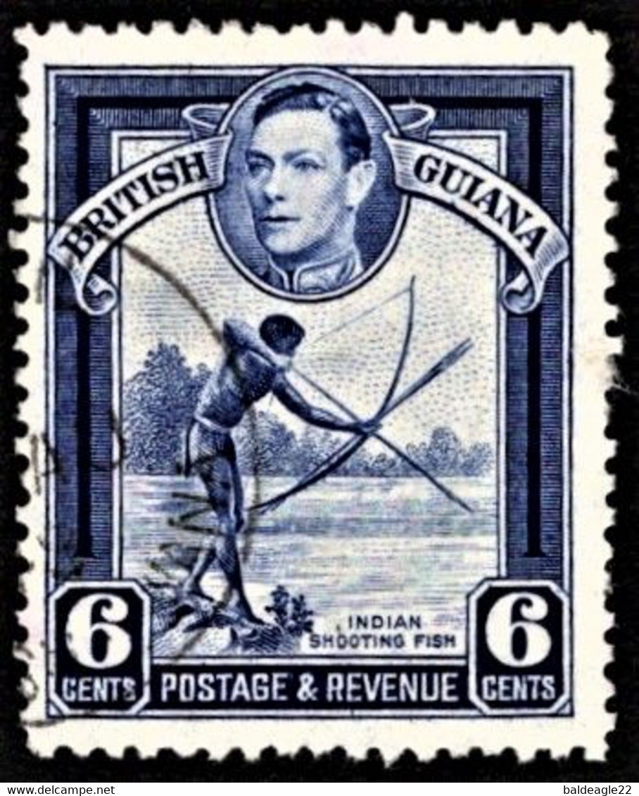 British Guiana - Scott #233a Used (2) - Perf 12 1/2 - British Guiana (...-1966)