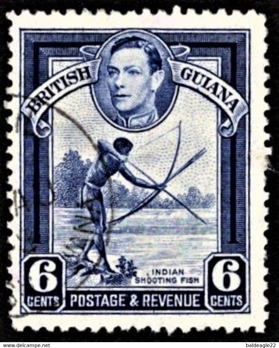 British Guiana - Scott #233a Used - Perf 12 1/2 - British Guiana (...-1966)