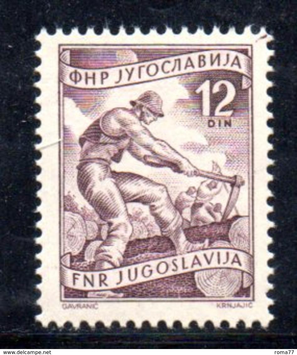 T253 - YUGOSLAVIA 1950 , Lavoro 12 D. Unificato 557 *** - 1945-1992 Repubblica Socialista Federale Di Jugoslavia