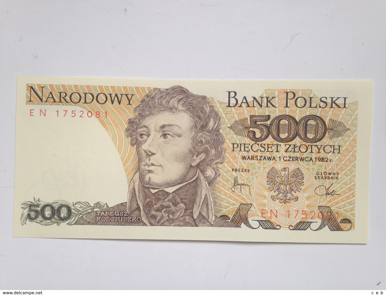 Billete Polonia. 500 Zlotych. 1982. Original. Sin Circular - Polonia