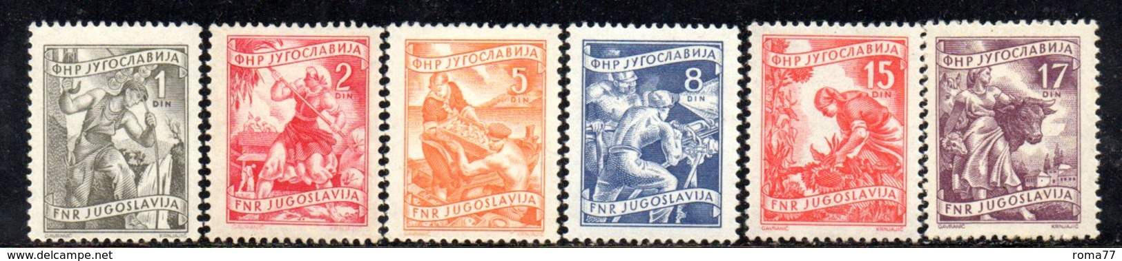 T1177 - YUGOSLAVIA 1952 , Lavoro 3a Serie Mista */* Manca 604+605 - 1945-1992 Repubblica Socialista Federale Di Jugoslavia