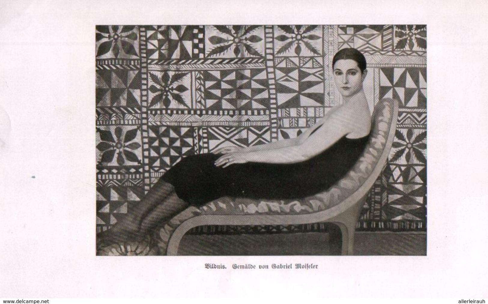Bildnis (nach Einem Gemälde Von Gabriel Moiseler)  / Druck, Entnommen Aus Zeitschrift / 1925 - Bücher, Zeitschriften, Comics