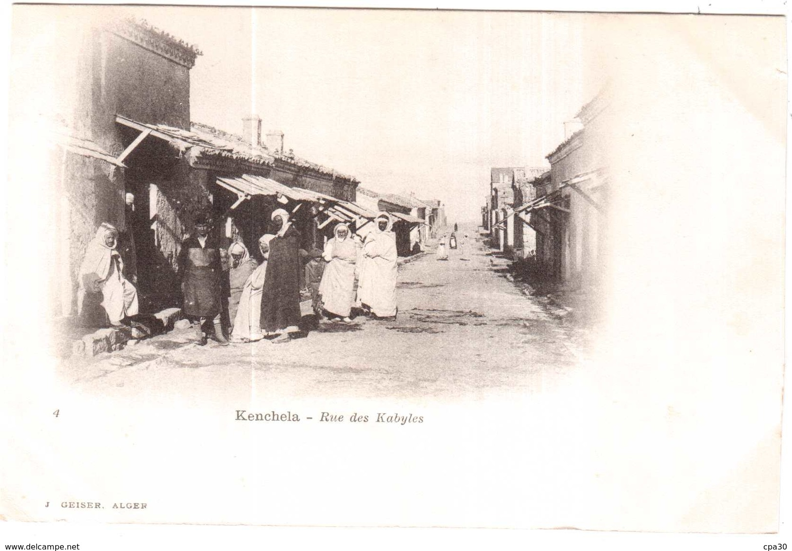 CPA ALGERIE.KENCHELA.RUE DES KABYLES - Autres Villes