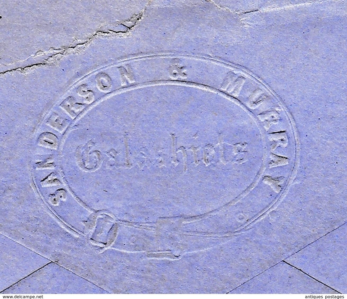Lettre Galashiels 1877 Scotland Écosse England Sanderson & Murray Victoria Edinburg One Penny Red - 1840-1901 (Victoria)