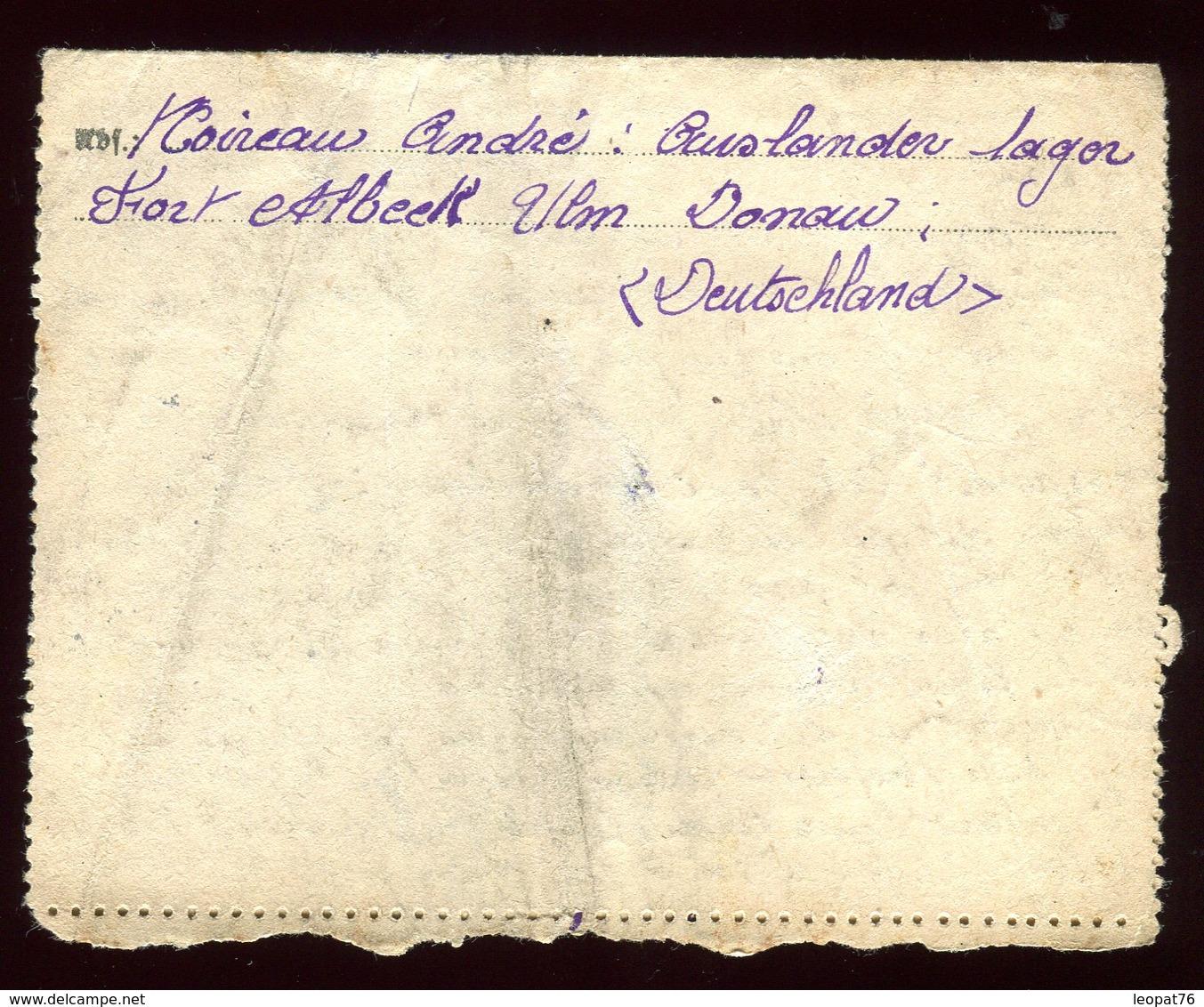 Allemagne - Carte Lettre De Ulm Pour Bad Lauterberg En 1943 - Réf O19 - Briefe U. Dokumente