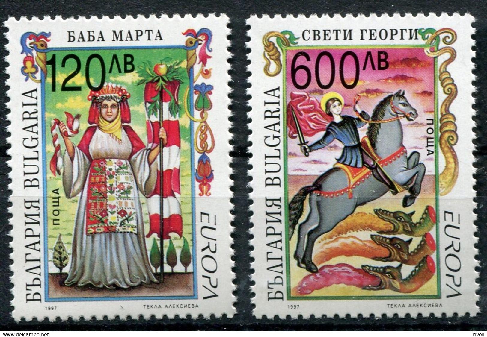 EUROPA-CEPT 1997 BULGARIE BULGARIA - Neuf Sans Charnière( YVERT N° 3715/16 ) - 1997