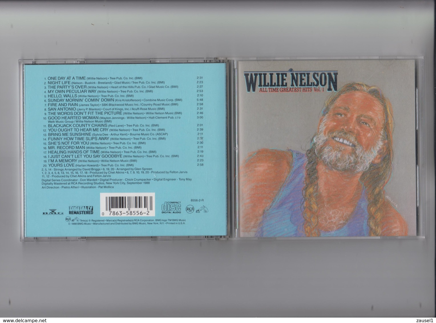 Willie Nelson - All Time Greatest Hits Vol 1- Original CD - Country & Folk