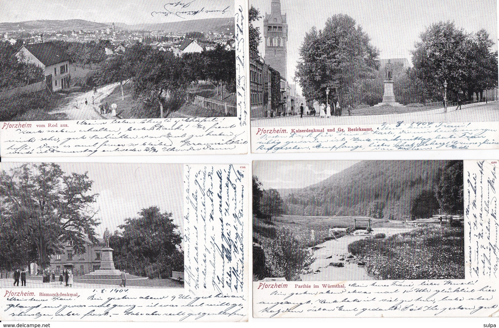 Pforzheim. 4 Versch. Ansichtskarten - Pforzheim