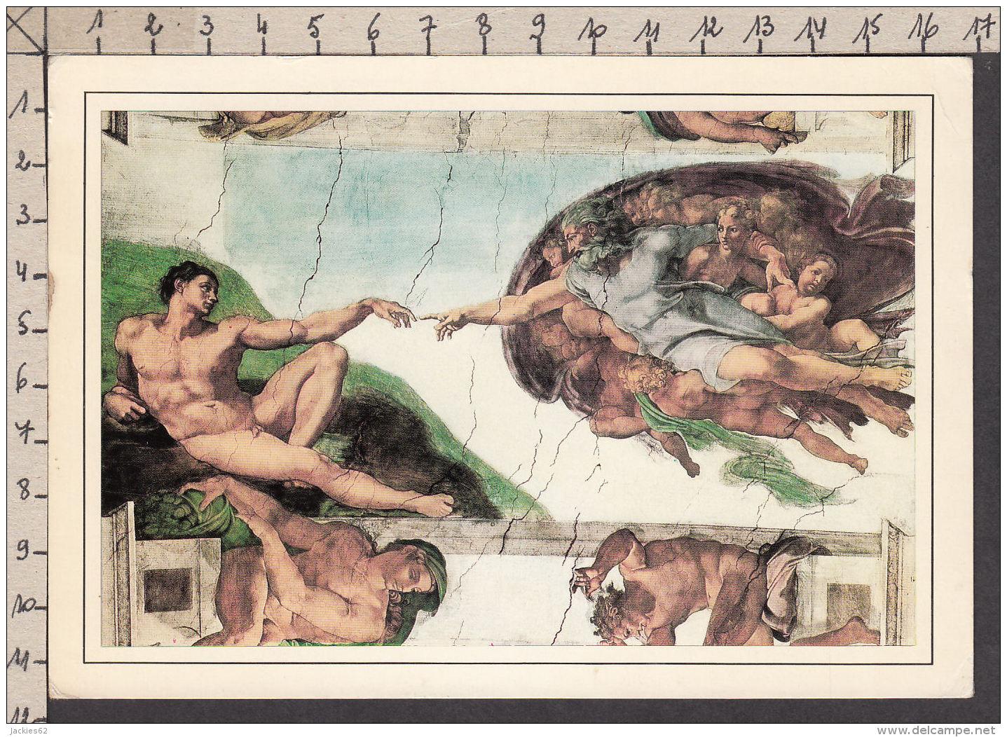 PM242/ MICHEL-ANGE, *La Création De L'Homme*, Vatican, Chapelle Sixtine - Peintures & Tableaux