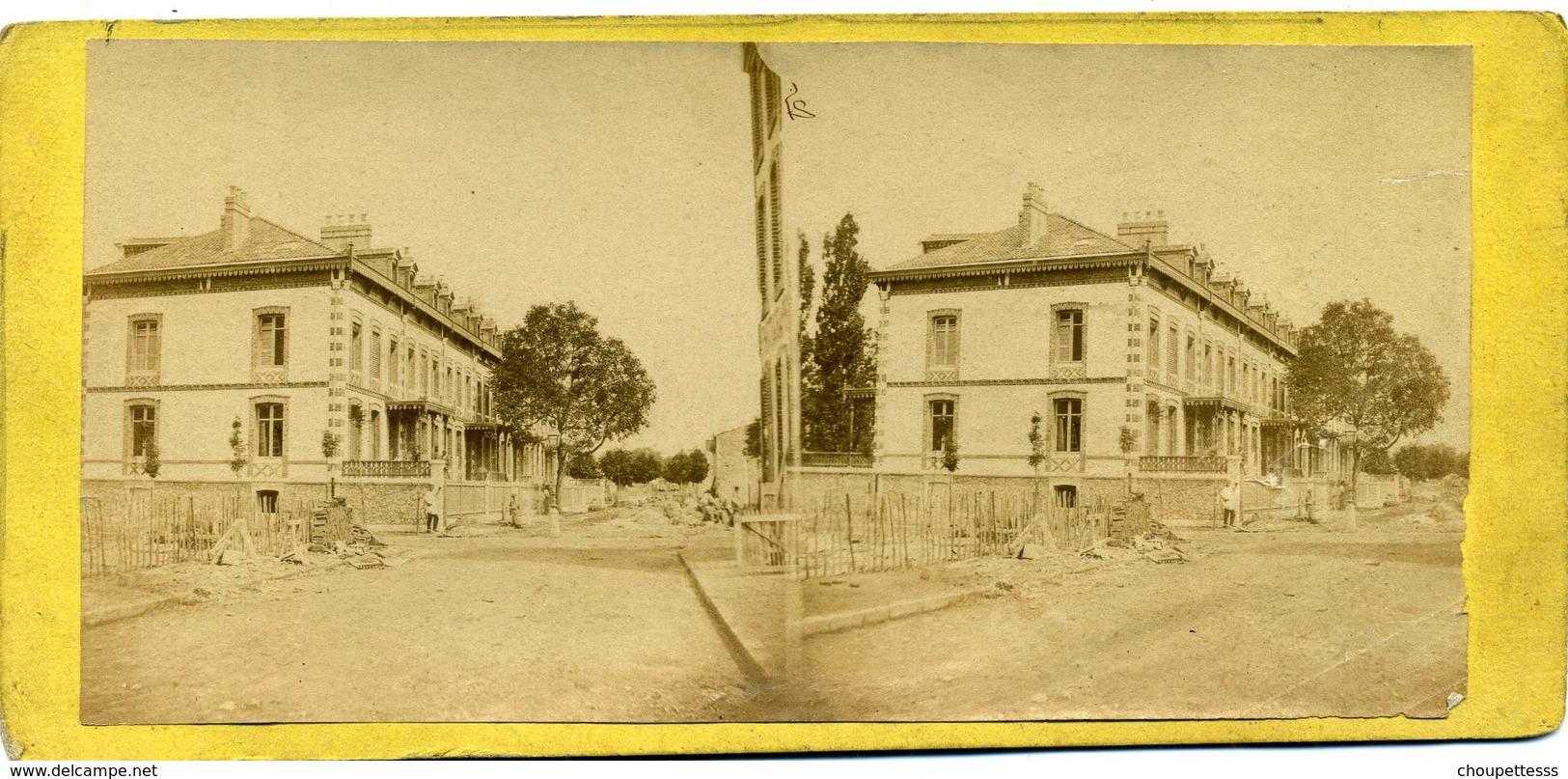 Photo  Stéréoscopique Albuminée - Paris -  Avenue  Du  Bois De Boulogne - Photos Stéréoscopiques
