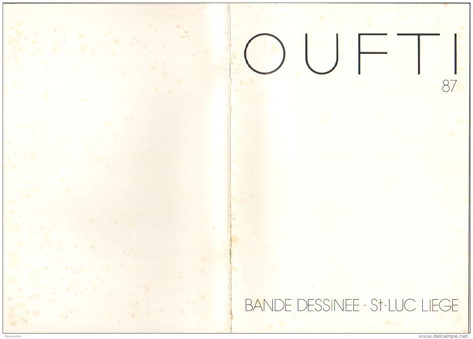 Catalogue Exposition OUFTI 1987 : Visuel Jeunes Dessinateurs Entre Autres JARBINET WARNAUTS - Livres, BD, Revues