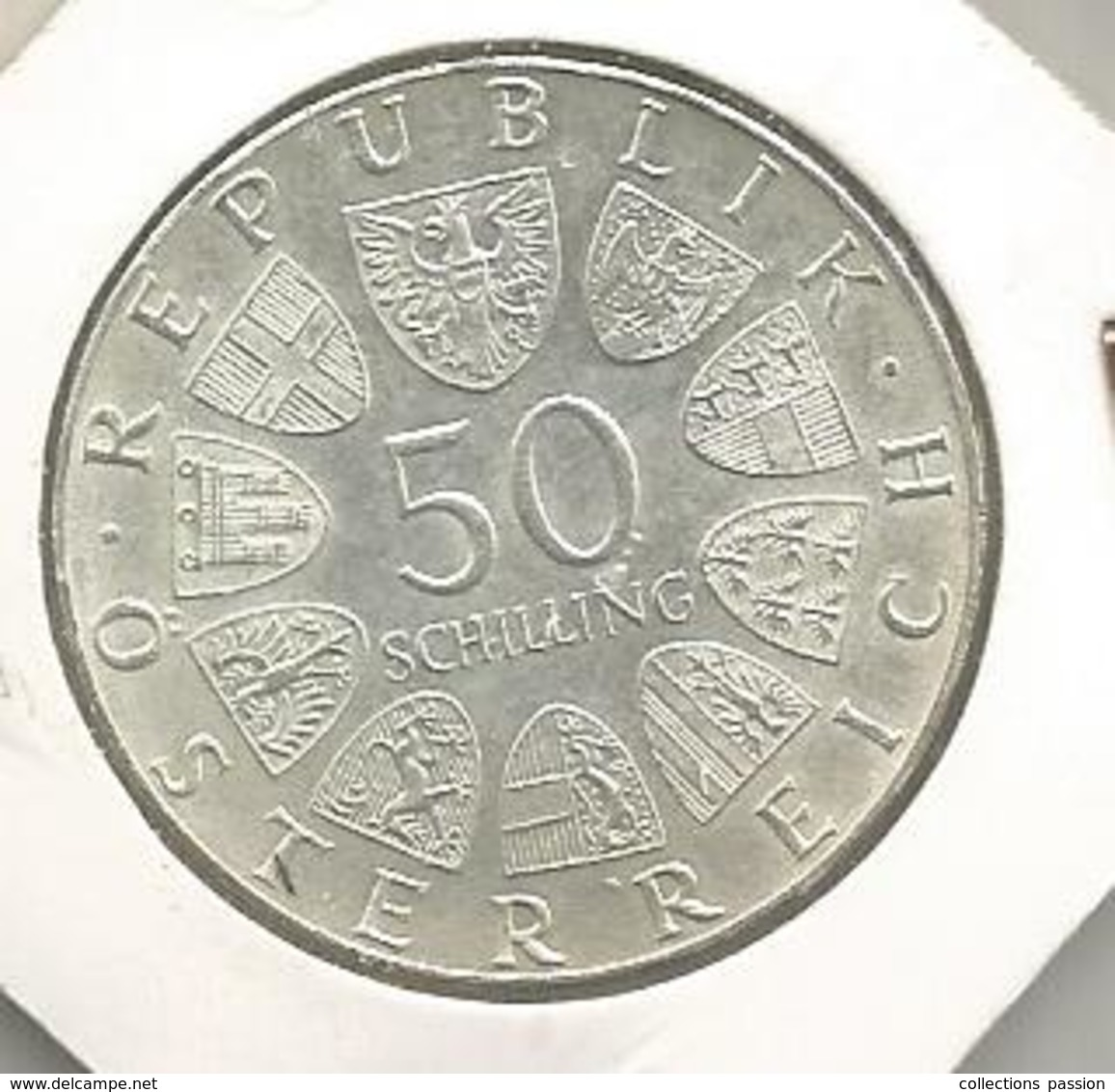Monnaie, AUTRICHE , Republik OSTERREICH , 50 Schilling , Gartemschau 1974 , Wiemer Internationale, Frais Fr 2.95 E - Autriche