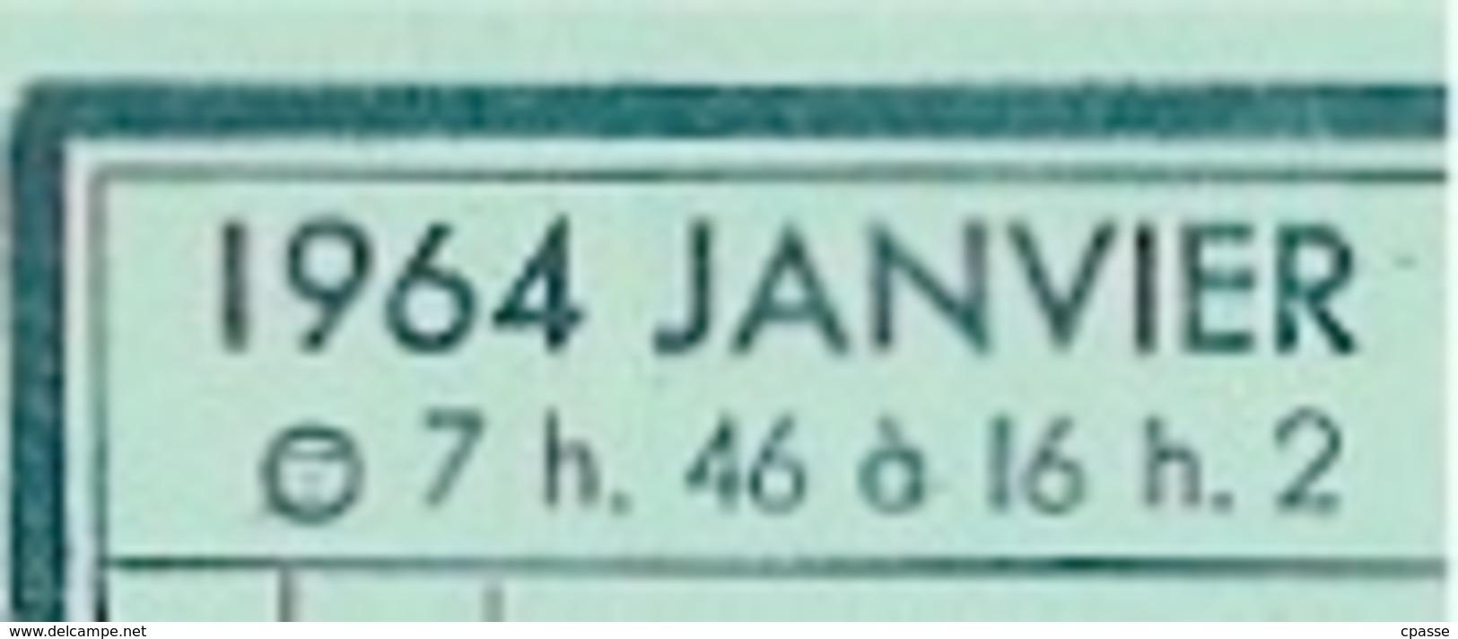 Calendrier 1964 LENEUTRE Voitures D'Occasion 37 CHAMBRAY-Les-TOURS * Métier Automobile - Calendriers