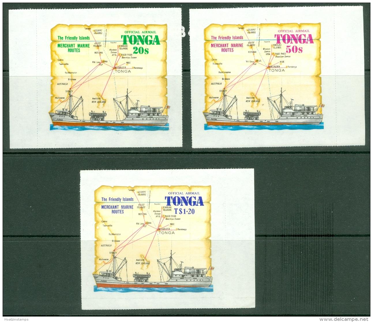 Tonga: 1972   Official - Merchant Marine Routes   SG O76-O78     MNH - Tonga (...-1970)
