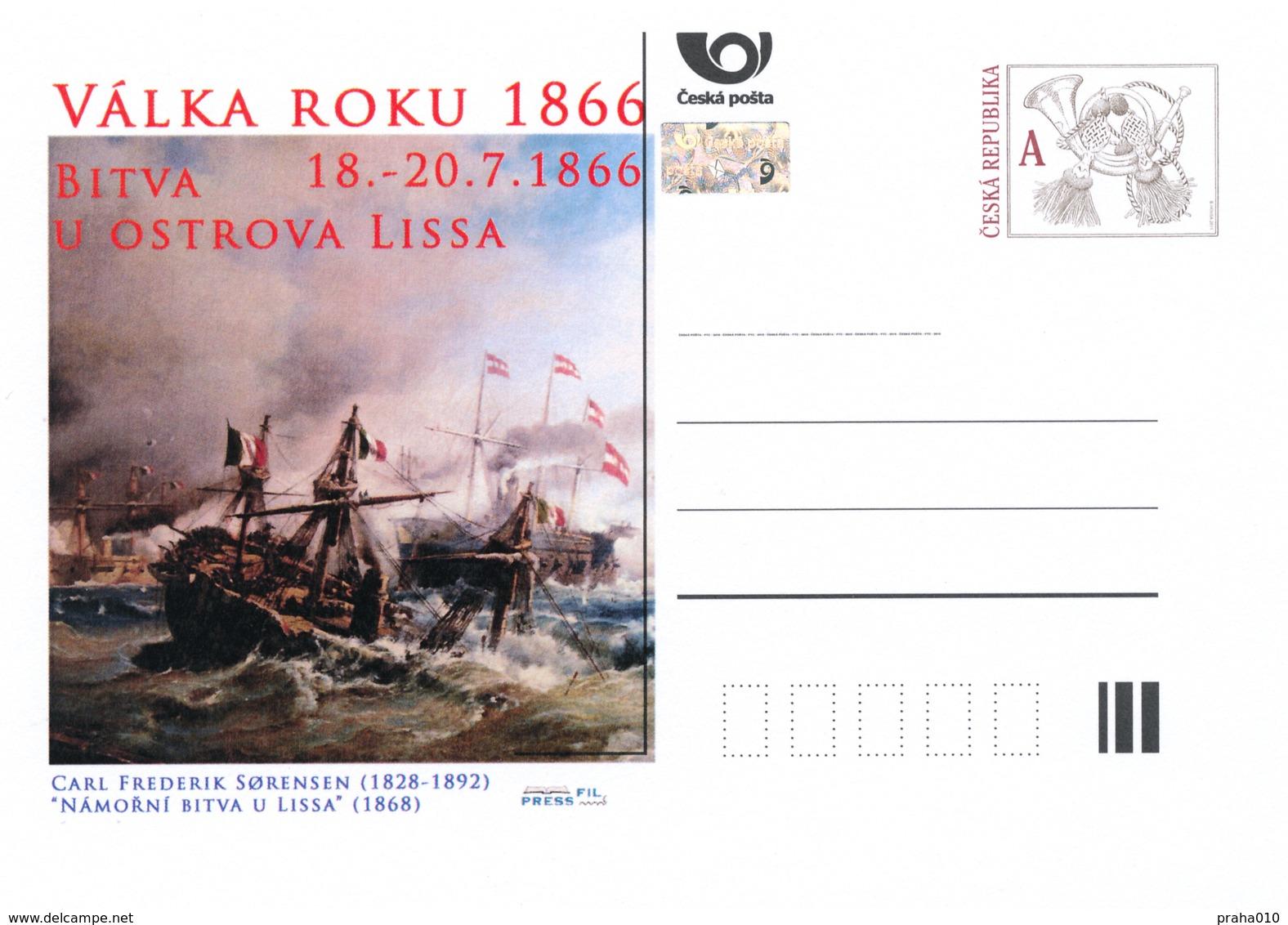 Rep. Ceca / Cart. Postali (Pre2016/29) Guerra Del 1866 (6) Battaglia Dell'isola Lissa - Pittore: Carl Sorensen (1828-92) - Postwaardestukken