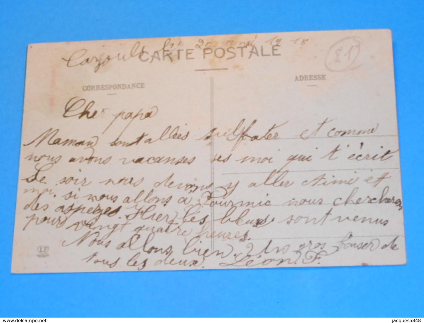"""81 ) Labastide-rouairoux - N° 552 - La Gare """" Vue Générale """"    - Année 1918 :  EDIT : Labouche - France"""