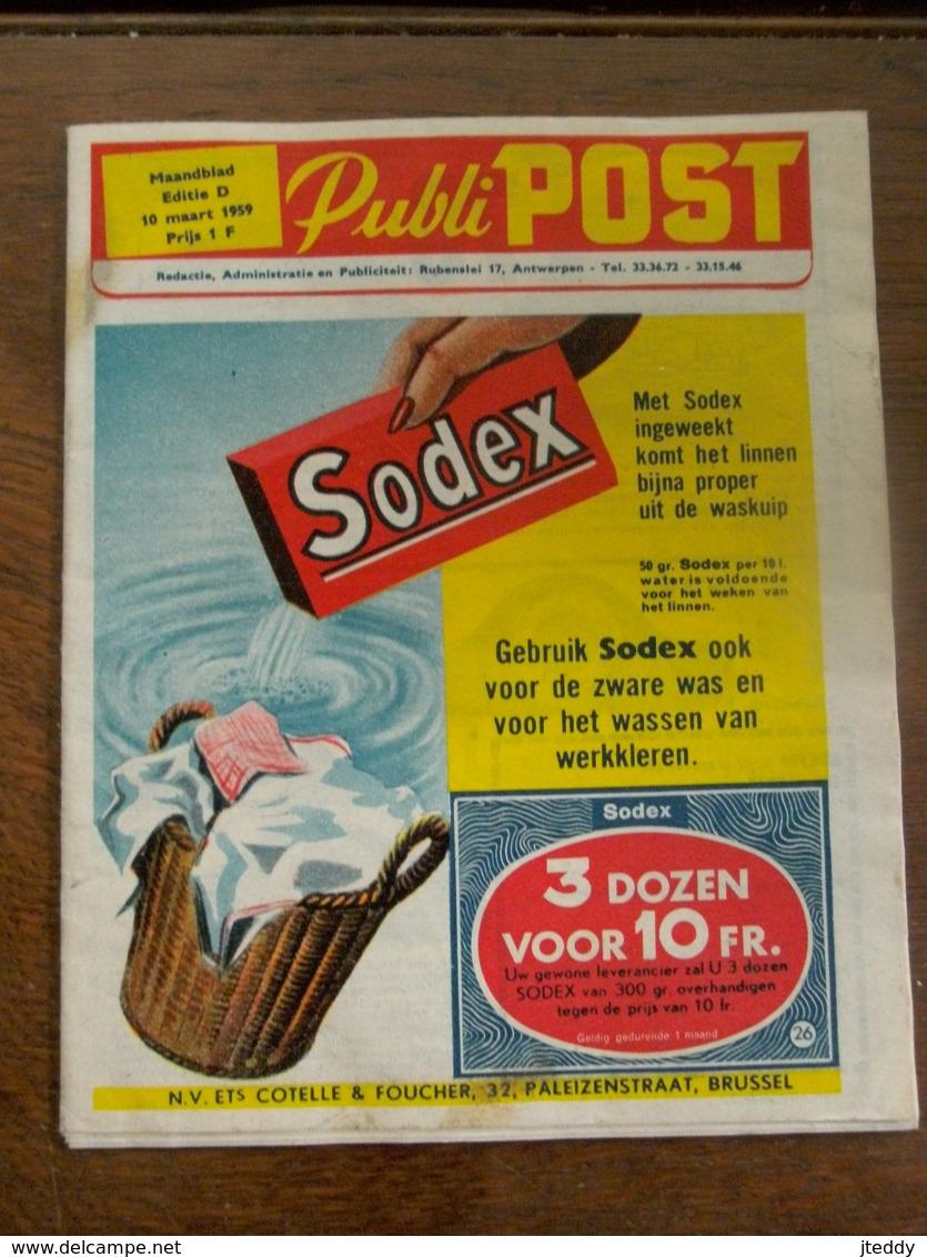 Maandblad 1959  Publi  POST - Publicités