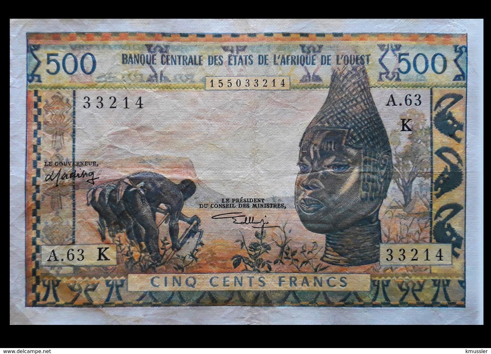 # # # Seltene Banknote Senegal (Westafrika) 500 Francs # # # - Sénégal