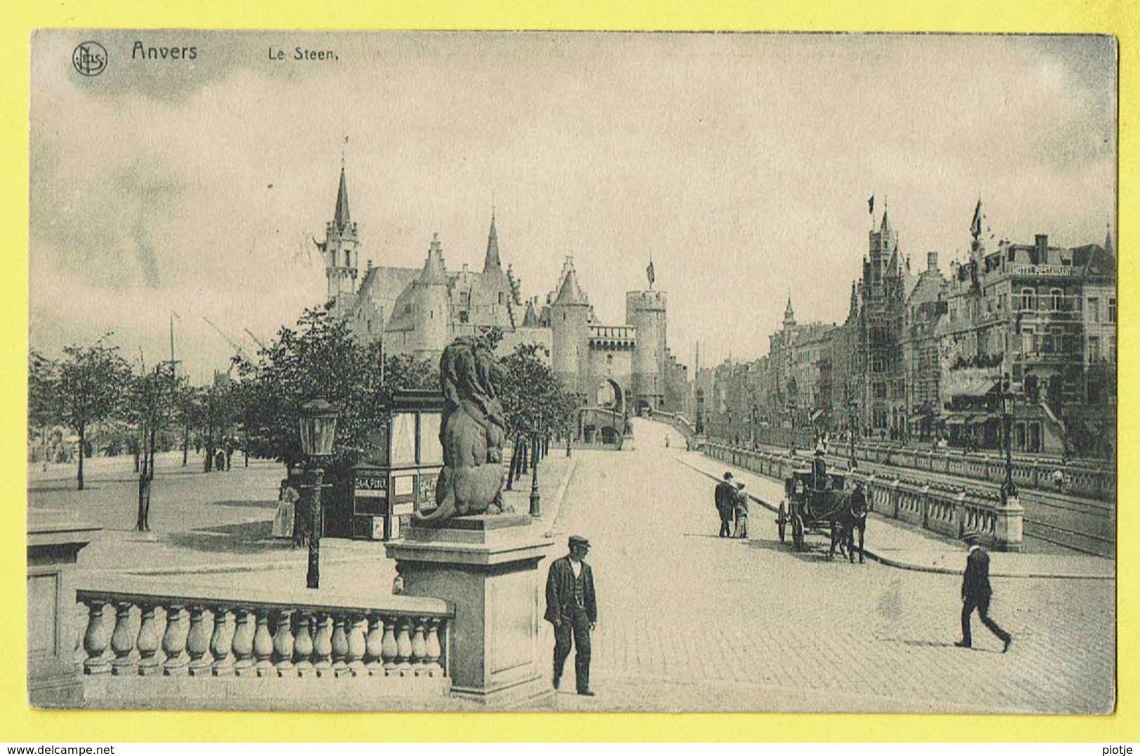 * Antwerpen - Anvers - Antwerp * (Ed Nels, Série 25, Nr 21) Le Steen, Animée, Lion, Musée, Chateau, Quai, Rare - Antwerpen