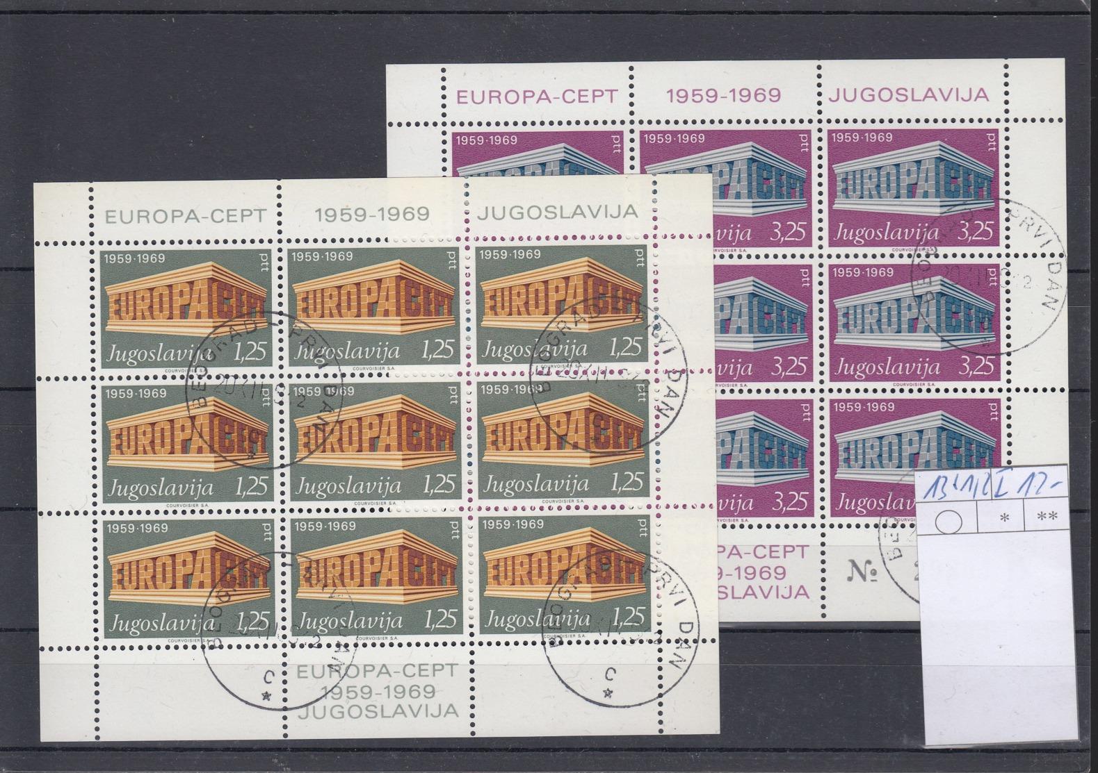 Jugoslawien (AK) Michel Cat.No. Sheet Used 1361/1362I - Blocs-feuillets