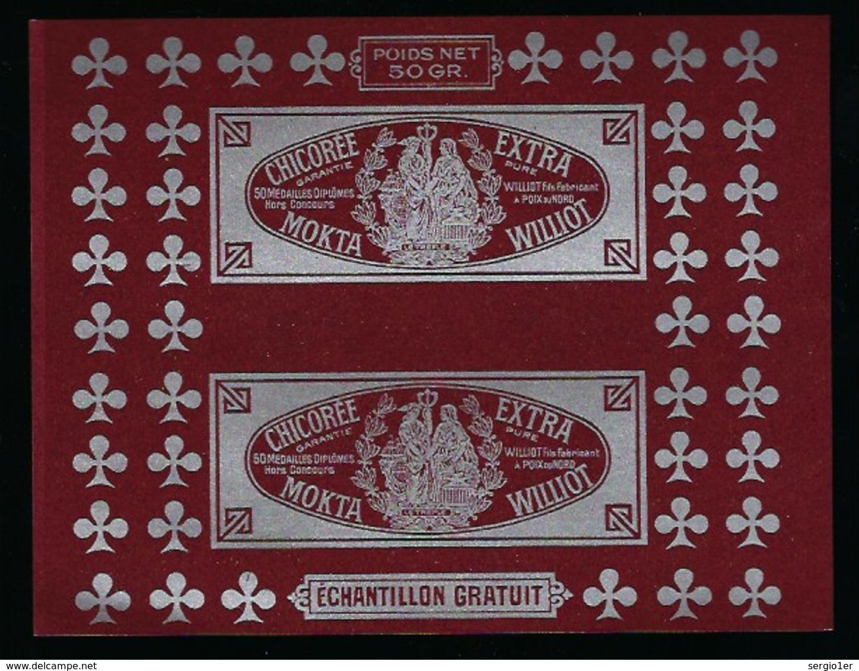 "Ancienne Etiquette Chicorée Extra Mokta Williot Fils Fabricant Poix Du Nord  50g ""échantillon"" - Frutta E Verdura"