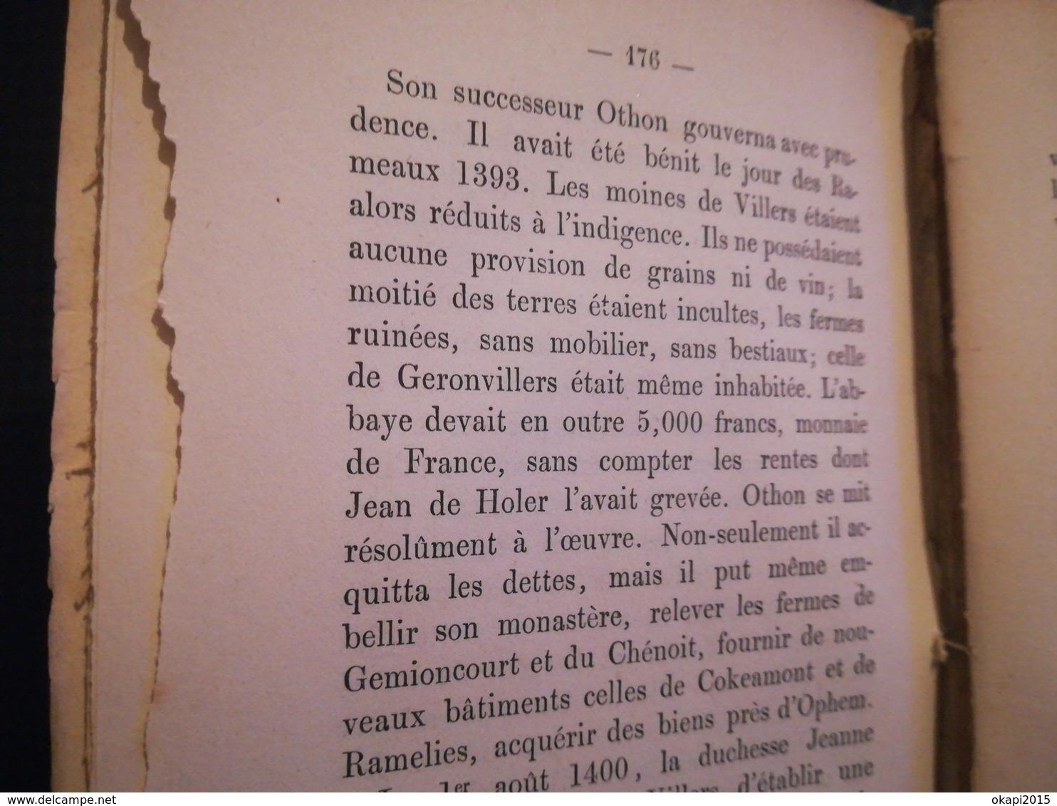 L'abbaye De Villers Abbaye De Villers-en-Brabant Villers-la-Ville Brabant Wallon  Livre Ancien Régionalisme Belgique - Culture