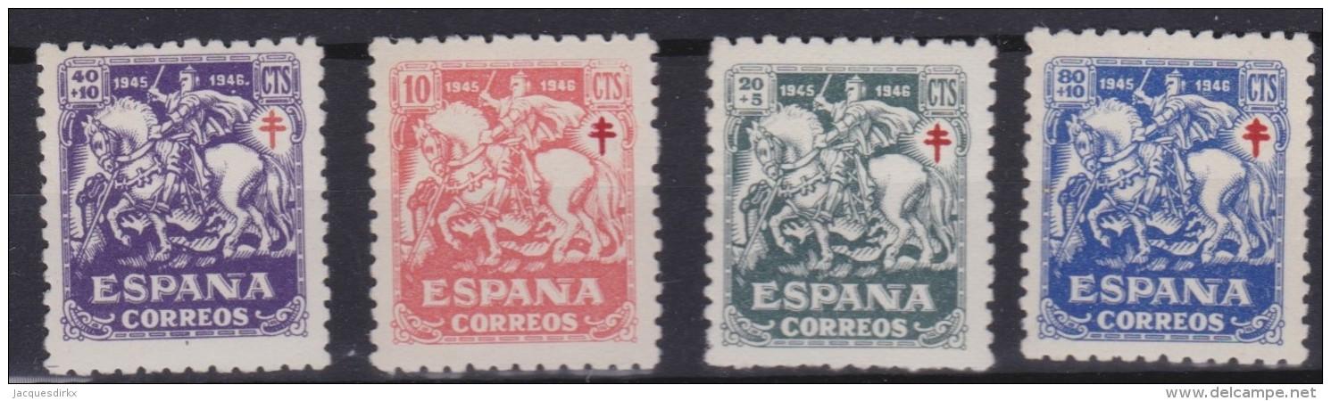 Espana    .     Yvert    .     744/747    .      **      .    MNH      .    /    .     Neuf  SANS  Charniere - 1931-50 Unused Stamps