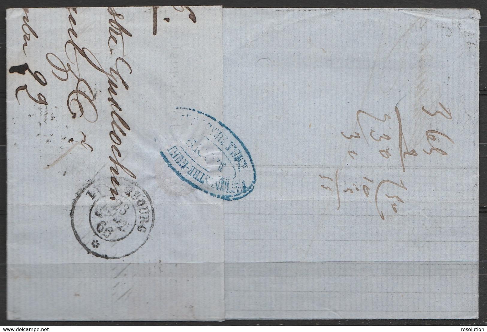 """L. Entête N°19 Lpts """"252"""" Càd """"MONS/22 SEPT/1866"""" Pour LUXEMBOURG + [PD] (au Dos: Càd Luxembourg) - 1865-1866 Profil Gauche"""