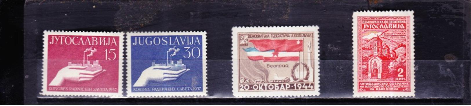 Yugoslavia  821 - 822 469  456     ** - Unused Stamps