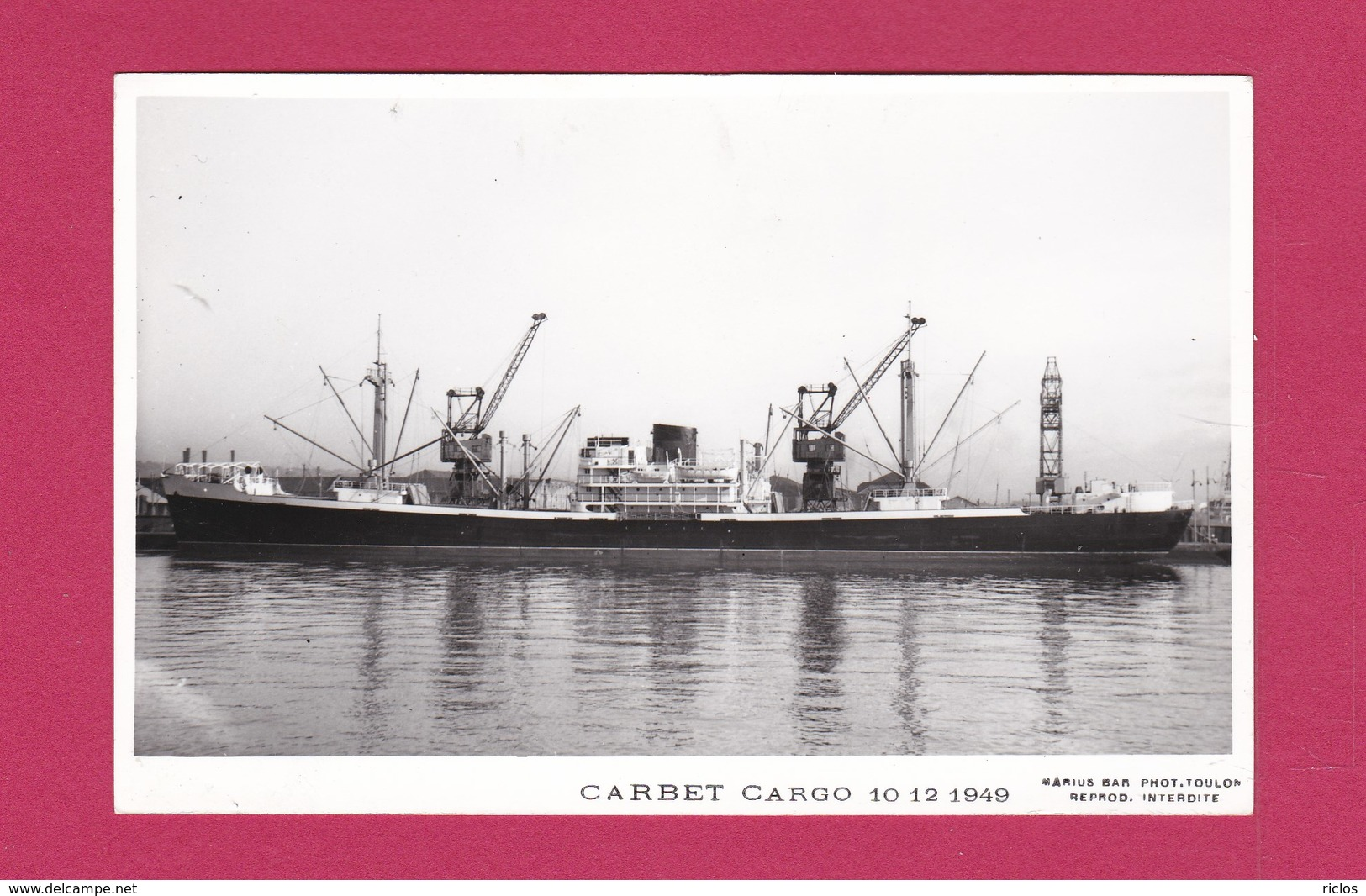 "BATEAU - CARGO - "" CARBET "" - - Cargos"