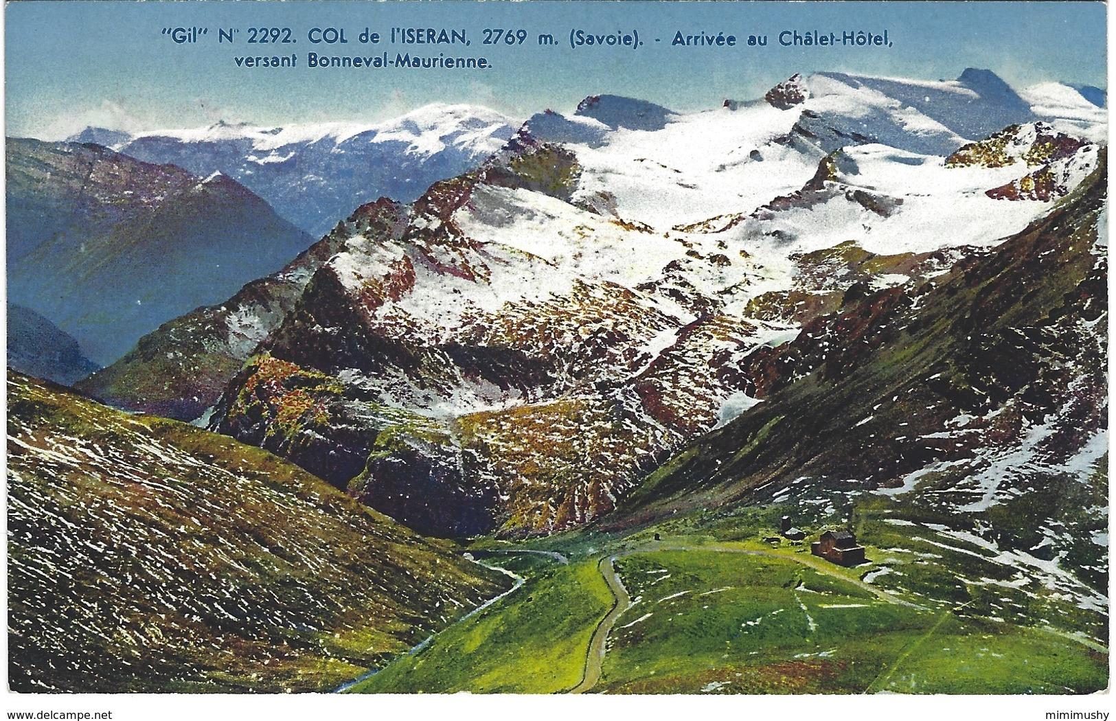 73 - Col De L'iseran - Arrivée Au Chalet Hotel Versant Bonneval Maurienne - France