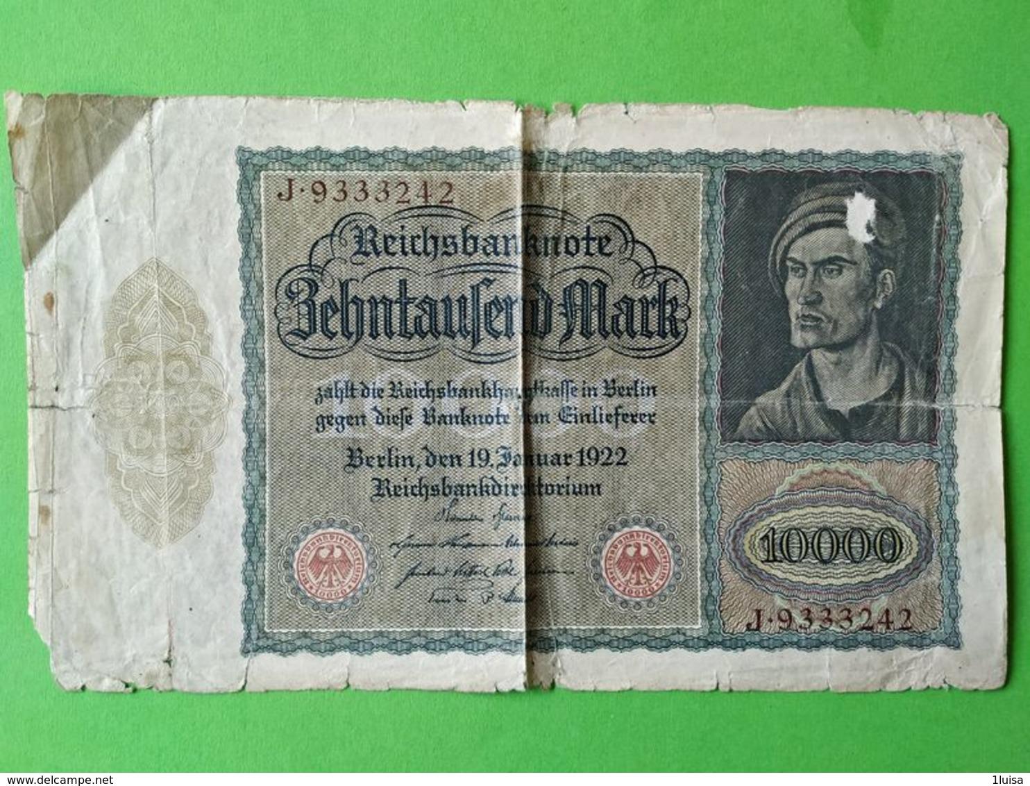 10000 Mark 1922 - [ 3] 1918-1933: Weimarrepubliek