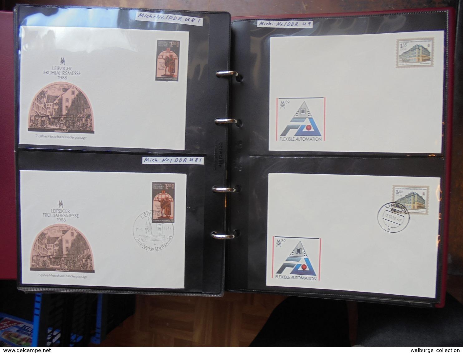 D.D.R GROSSE COLLECTION EN 4 ALBUMS DE +- 400 FDC (5 KILOS 500) - [6] République Démocratique