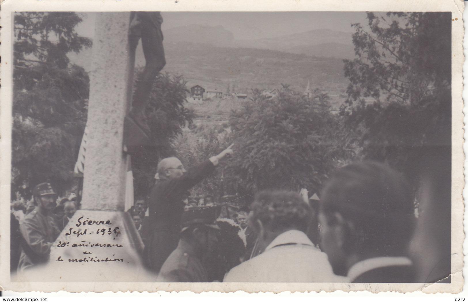 SIERRE - SEPTEMBRE 1934 - 20 E DE LA MOBILISATION - ANIMEE - 1936 - VS Valais