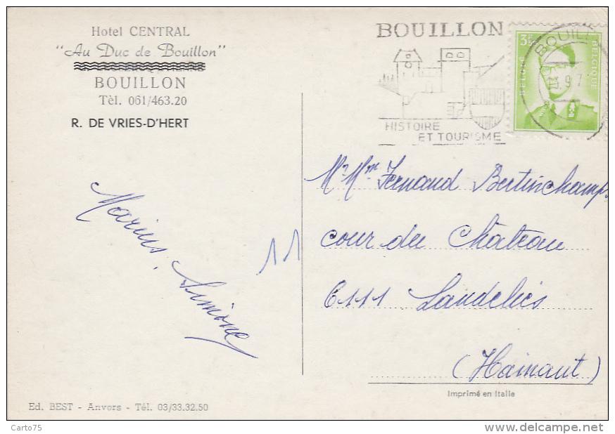 """Belgique - Bouillon - Hôtel Central """"Au Duc De Bouillon"""" - Vues Diverses - Bouillon"""