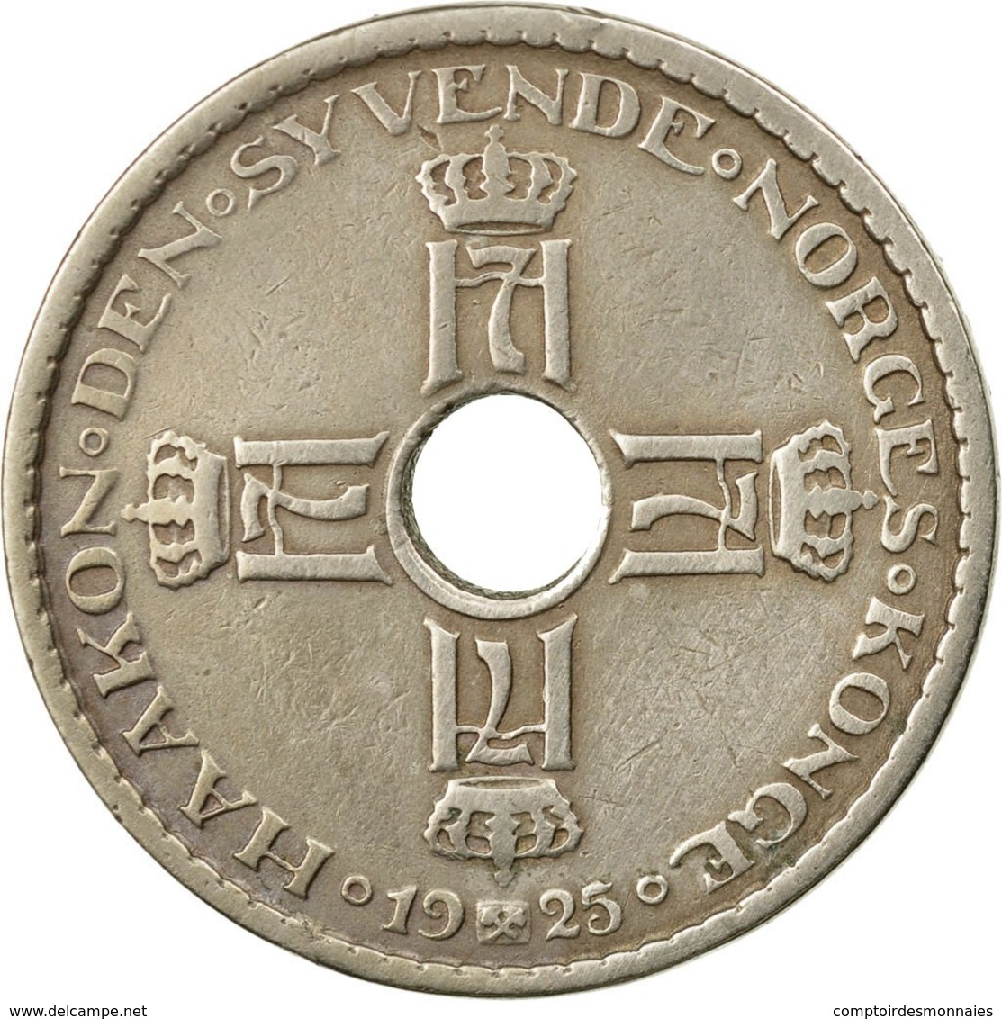 Monnaie, Norvège, Haakon VII, Krone, 1925, TTB, Copper-nickel, KM:385 - Norvège