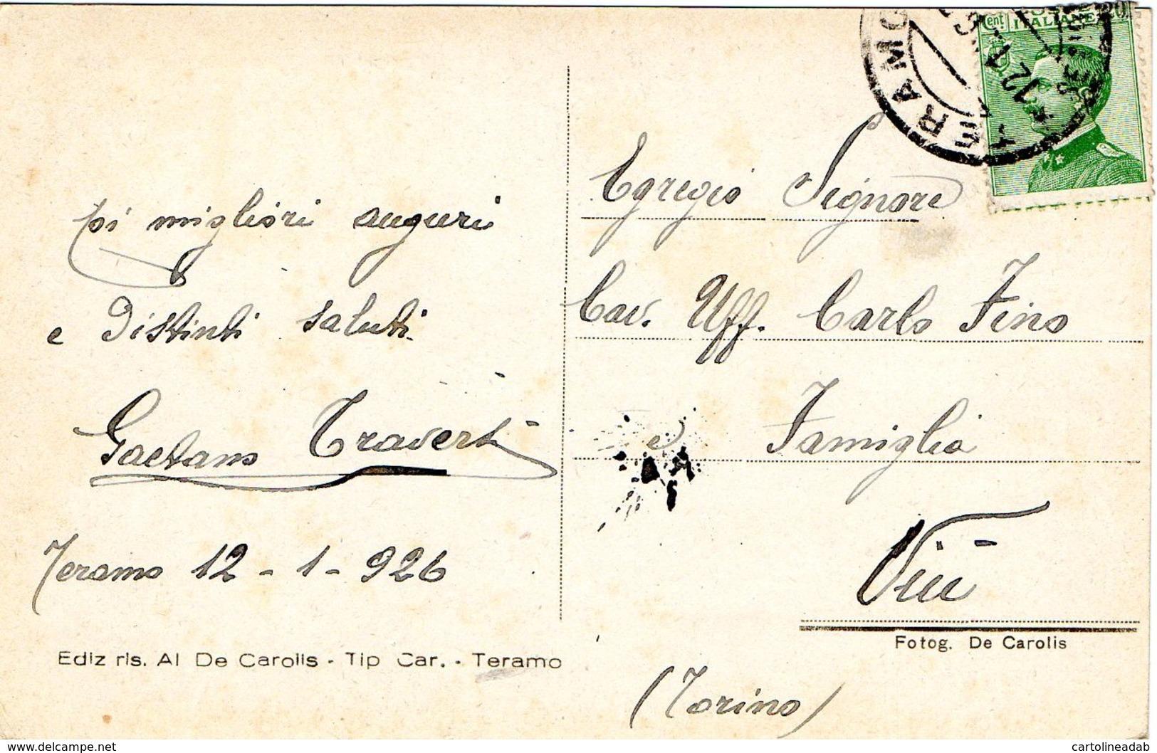 [DC7548] CPA - TERAMO - GRAN SASSO D'ITALIA - Viaggiata 1926 - Old Postcard - Teramo