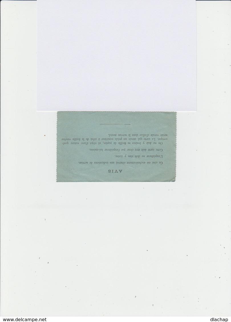 Carte Pneumatique. Entier Postal Chaplain 50 C. Noir. CAD Bleu Paris. (701) - Entiers Postaux