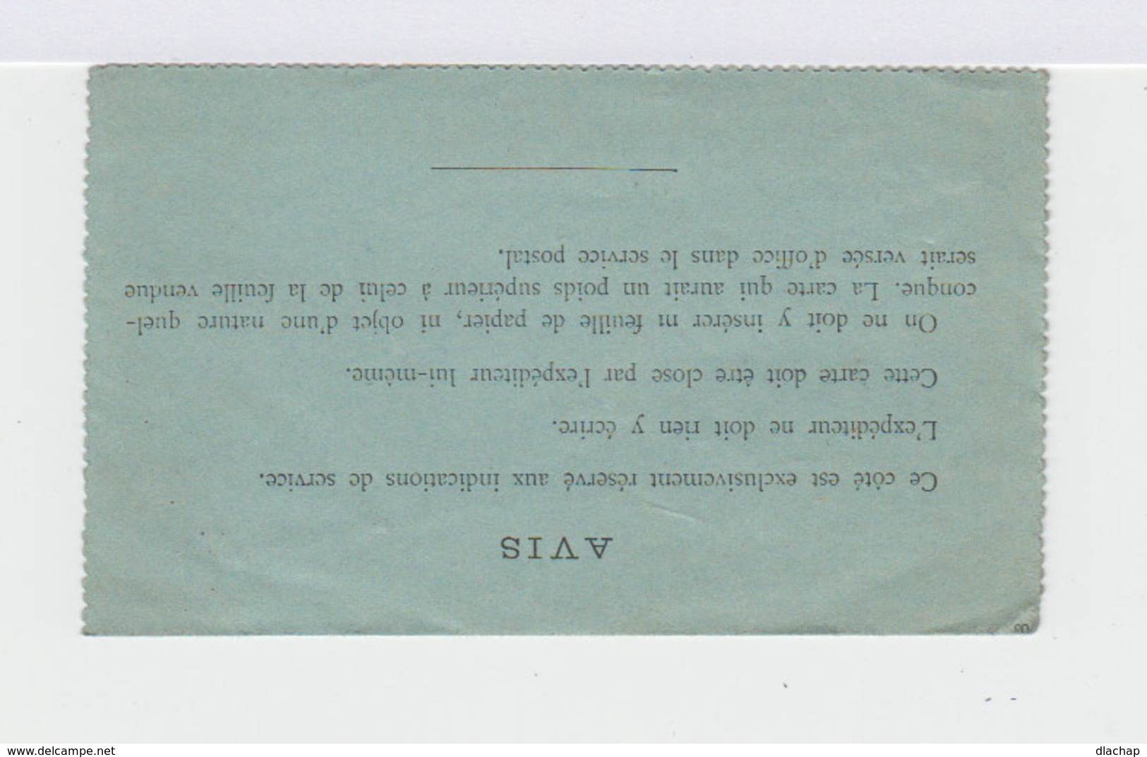 Carte Pneumatique. Entier Postal Chaplain 50 C. Noir. CAD Bleu Paris. (701) - Pneumatiques
