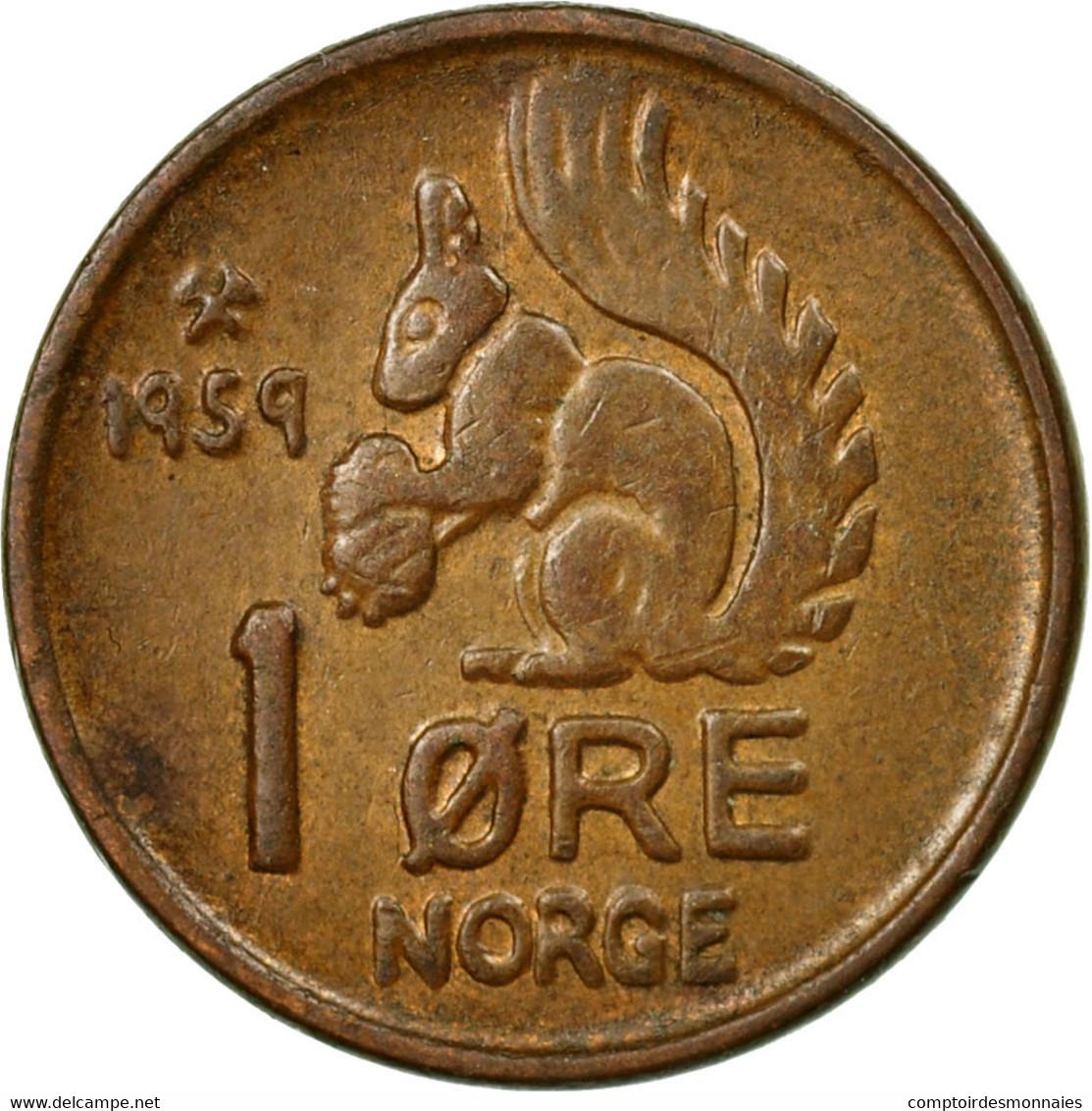 Monnaie, Norvège, Olav V, Ore, 1959, TTB, Bronze, KM:403 - Norvège