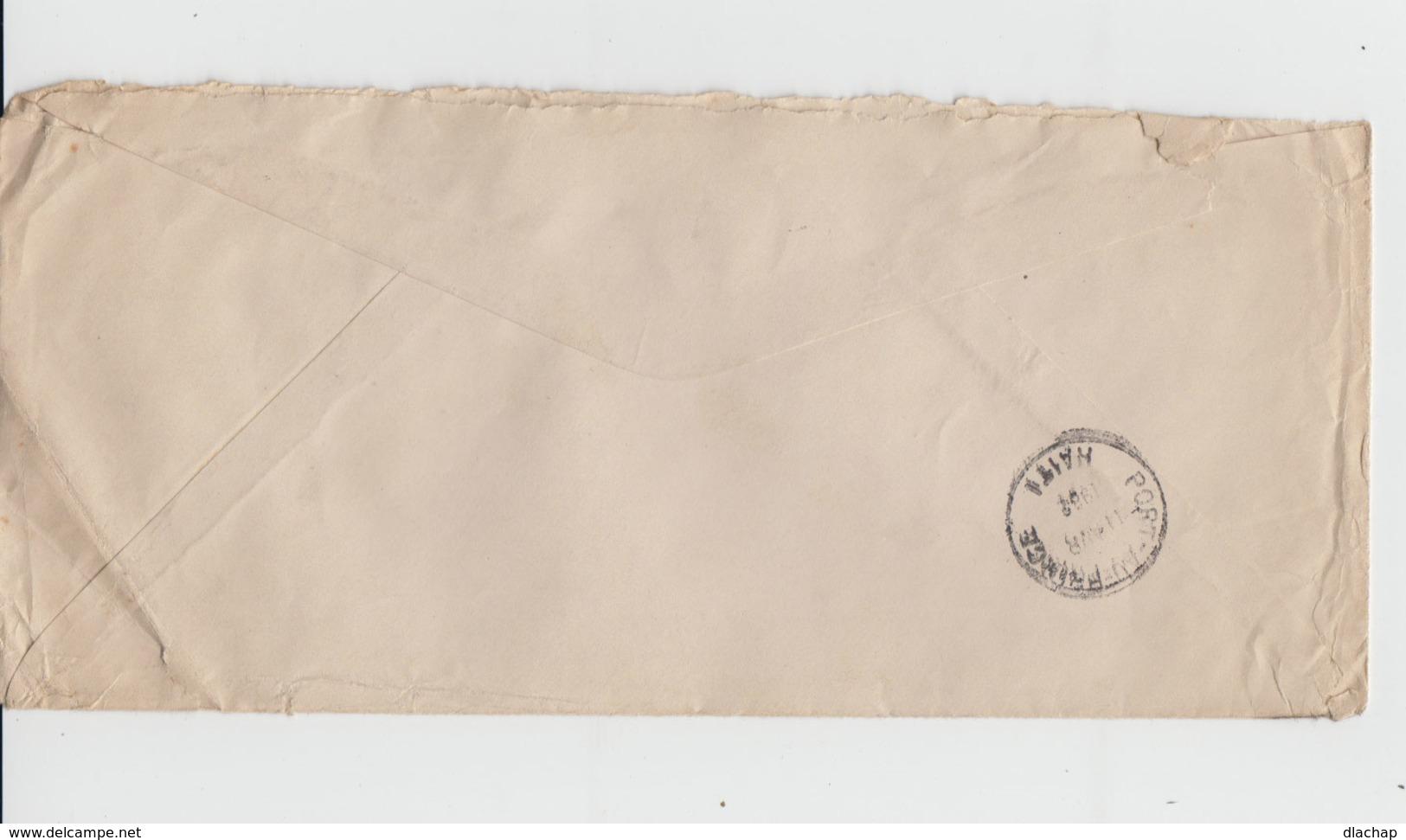Sur Enveloppe Deux Timbres Républica De Cuba Correo Aero Internationa. CAD Habana Correo Aero 1932. (709) - Poste Aérienne