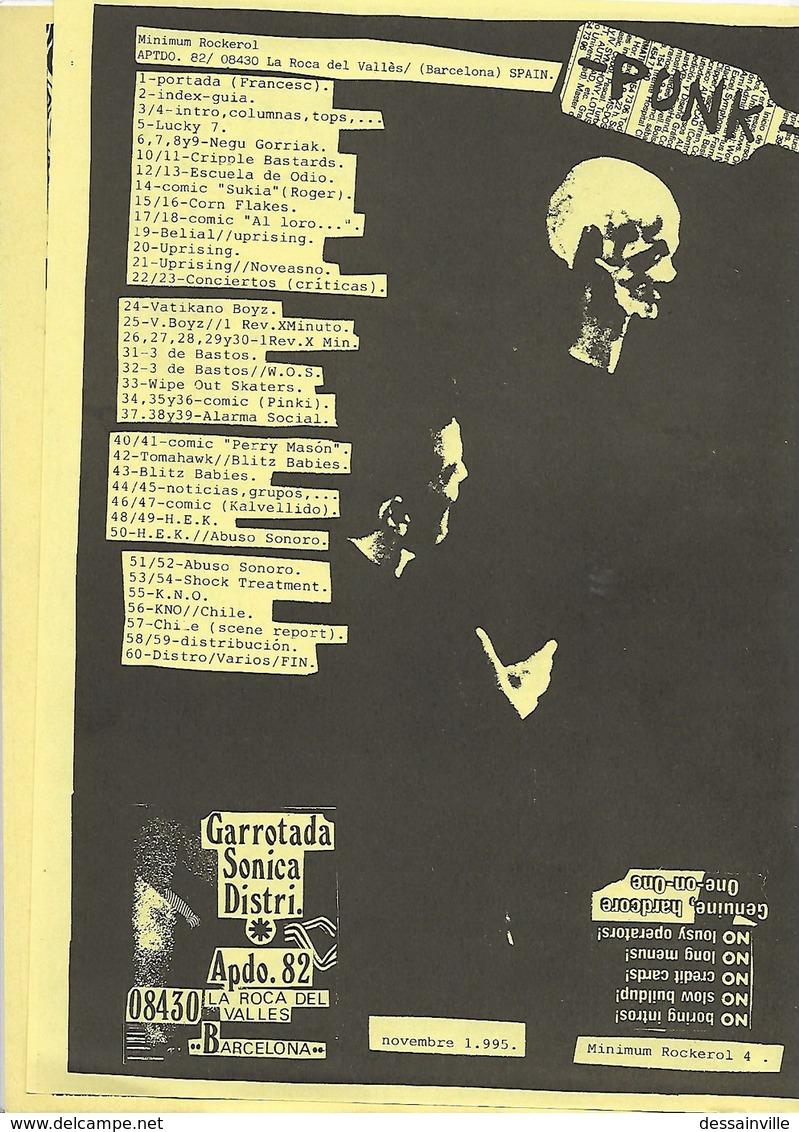 Fanzine MAXIMUM ROCKEROL N° 4 - NEGU GORRIAK Etc......... - Livres, BD, Revues