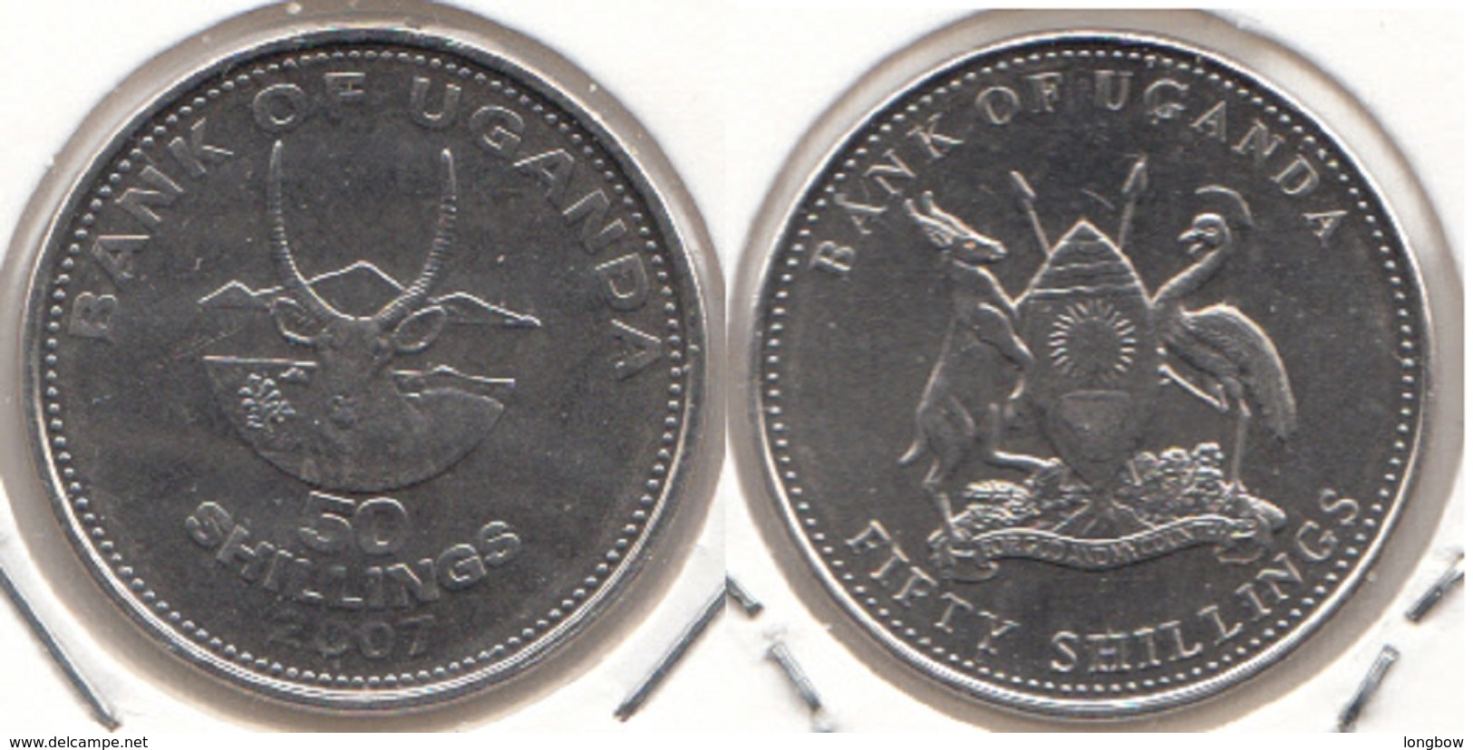 Uganda 50 Shillings 2007 KM#66 - Used - Ouganda