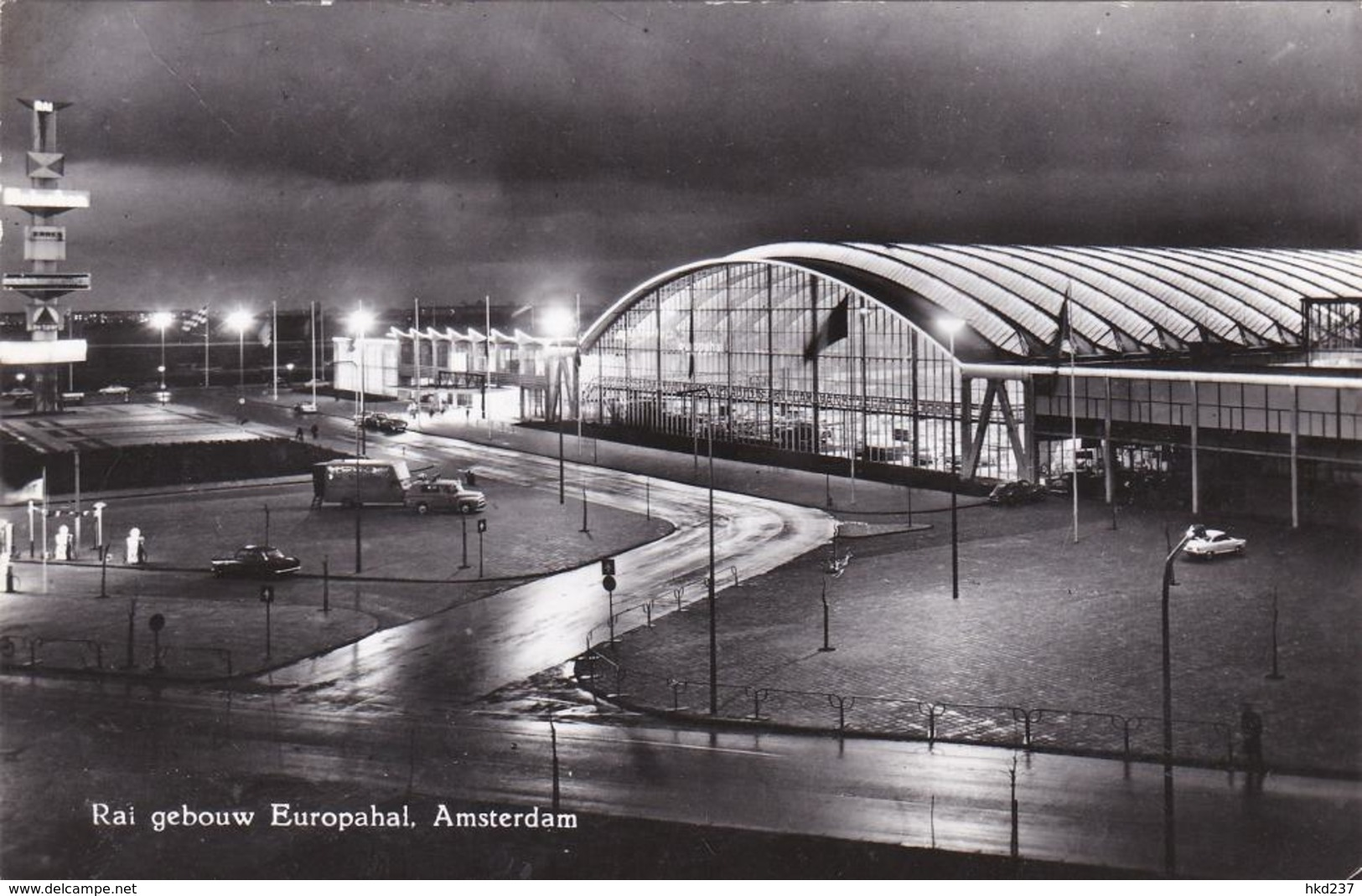 Amsterdam Rai Gebouw Europahal Bij Avond Oude Auto's     1016 - Amsterdam